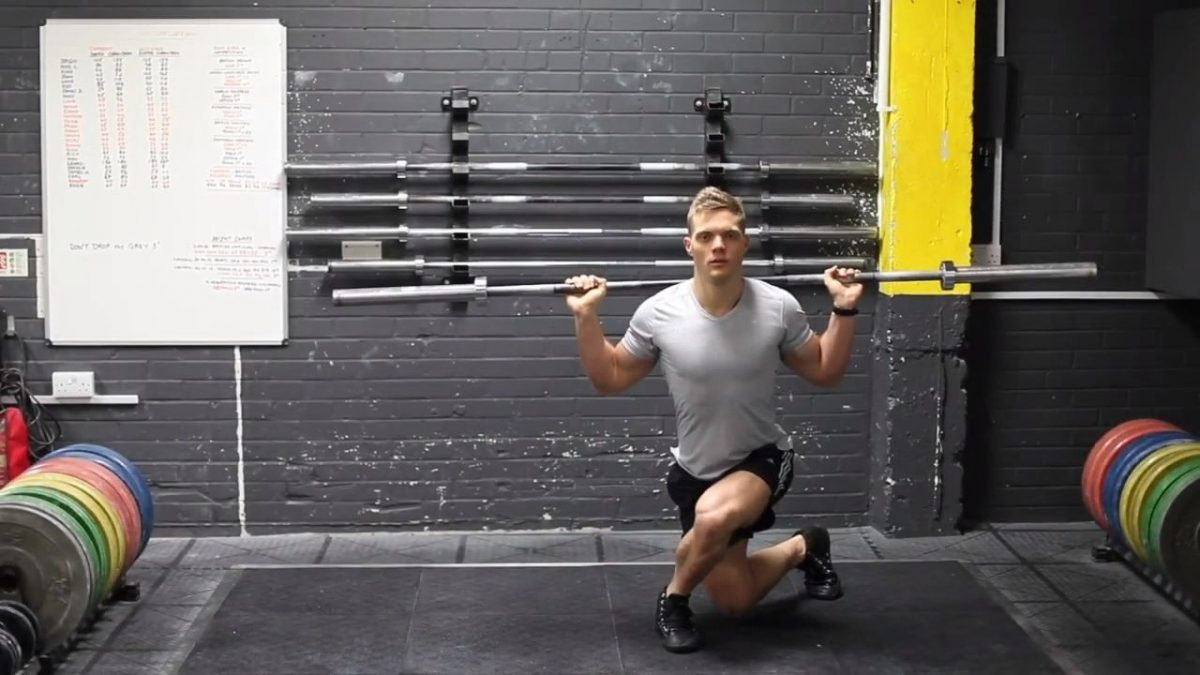 Barbell Curtsy Squats
