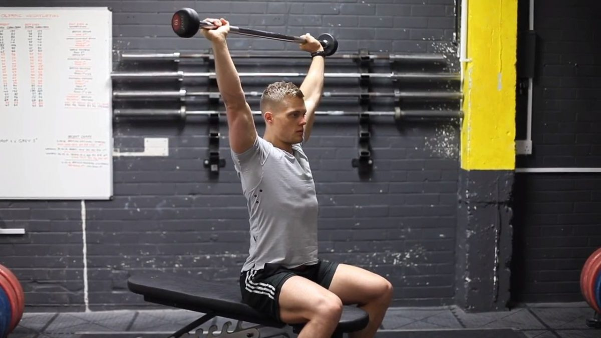 Barbell Push Press Behind The Head