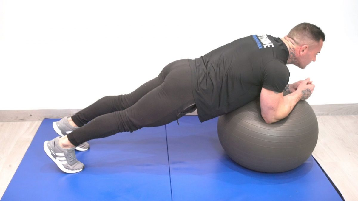 Plank On Swiss Ball