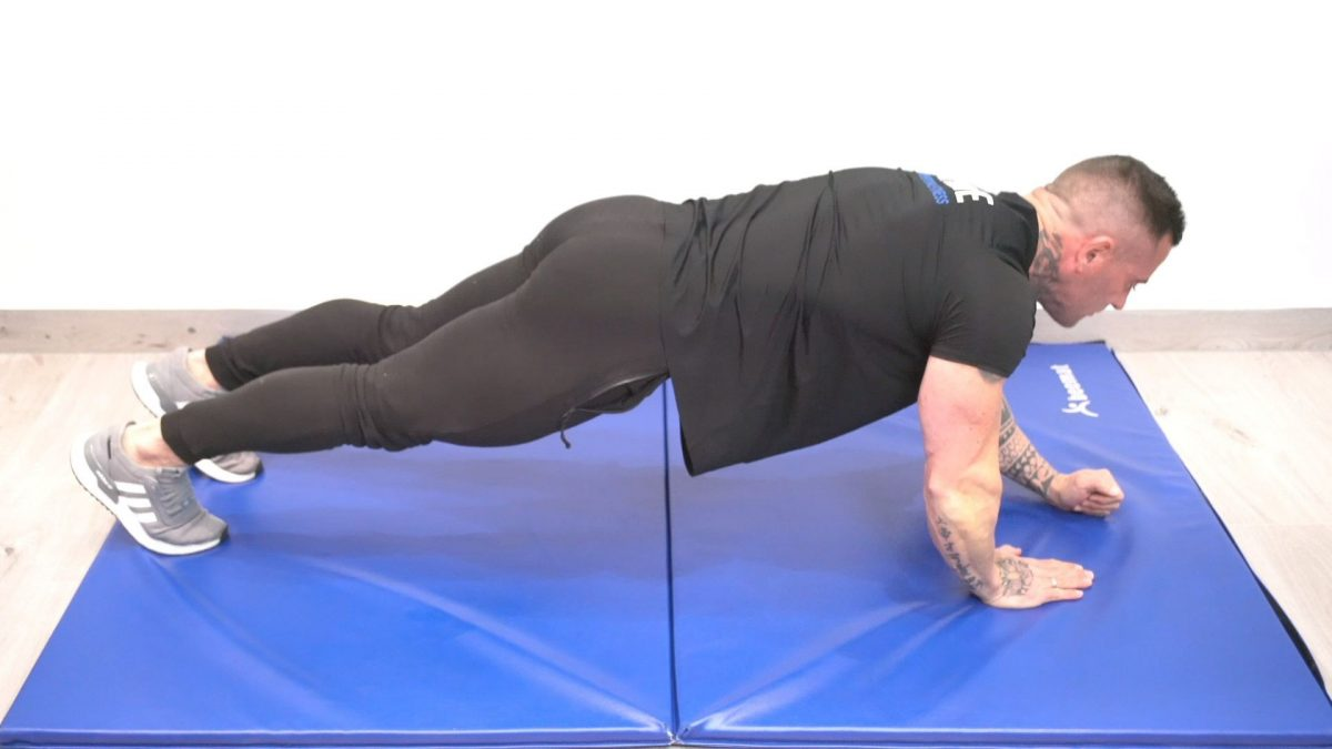 Plank Press Up