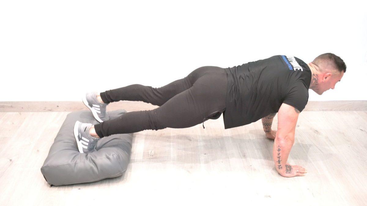 Press Up Plank Alternating Steps