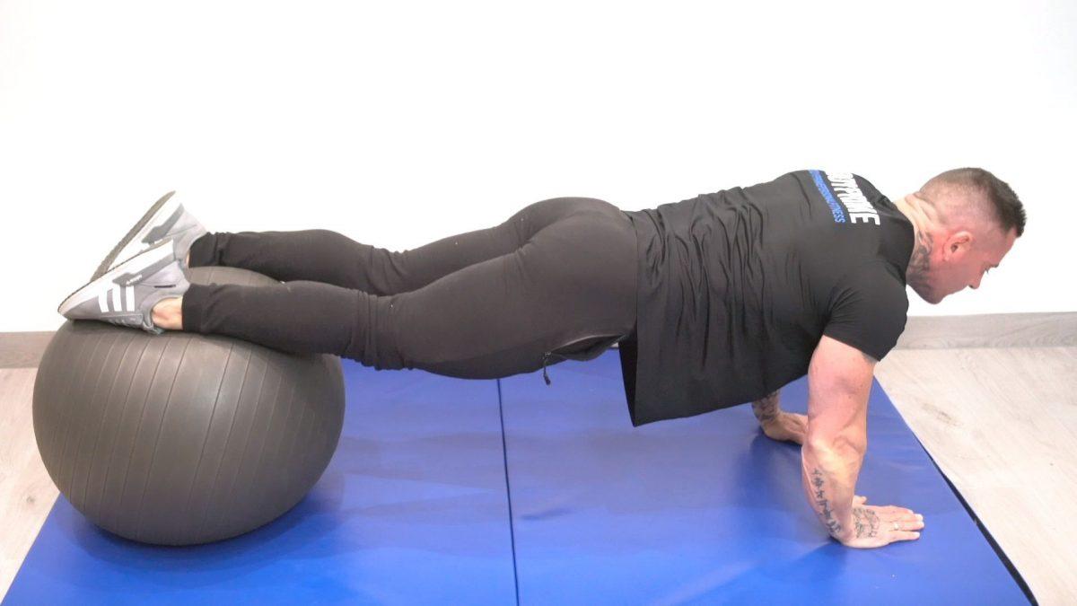 Swiss Ball Plank Press Ups