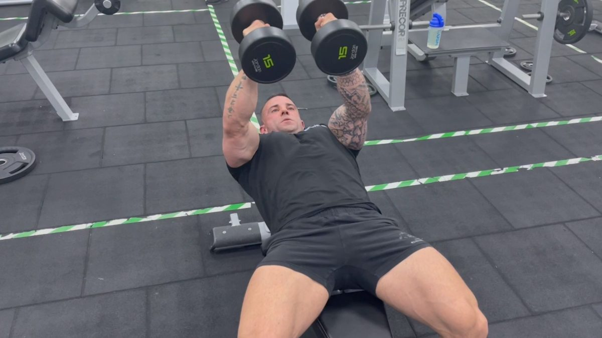 Flat Bench Dumbbell Flyes