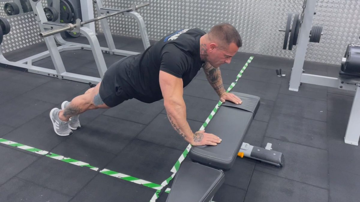 Incline Press Ups On A Bench