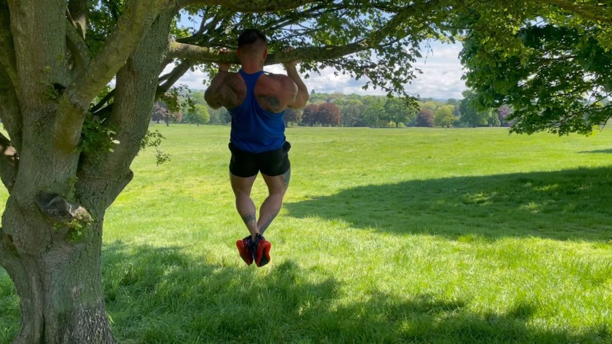 Reverse Grip Pull Ups – Outdoors