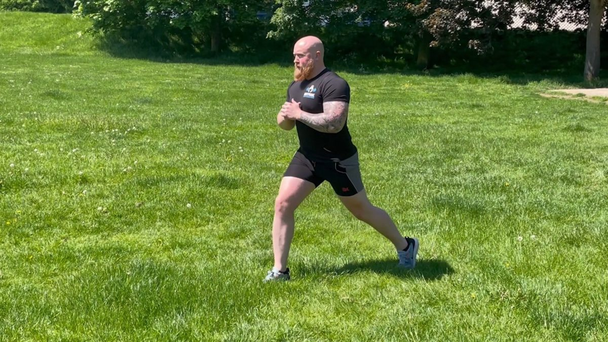 Single Leg Static Lunges – Outdoors