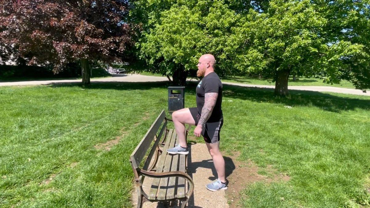 Single Leg Step Ups – Outdoors
